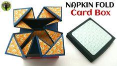 Napkin fold Card box - DIY Tutorial - 885 - YouTube
