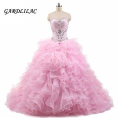 Pink Quinceanera Dresses 2017 2 Pieces Crystals Ball Gown Plus Size Long  Prom Party Dress Vestidos De 15 Anos Sweet 16 Dresses c4b64f8e1443
