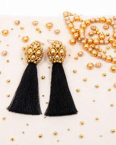 GOLD TEASEL DROP | cercei statement lungi cu ciucure Black Friday, Drop Earrings, Model, Gold, Jewelry, Jewlery, Bijoux, Scale Model, Schmuck