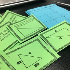 Pythagorean Theorem task cards get students the practice they need. Task cards are versatile additions to any math classroom- they can be used in so many ways. Check out all 13 Pythagorean Theorem activities and resources. Math Help, Fun Math, Math Activities, Math Games, Math 8, Math Worksheets, Whole Brain Teaching, Teaching Math, Teaching Ideas