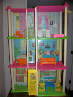 Barbie's house - yep, we used the elevator to make all sorts of toys fly.