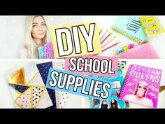 DIY Back To School Supplies | Quick & Easy - YouTube