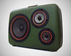 Vintage Suitcase Speakers - Powerful