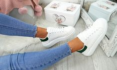 Stylish laced platform trainers with a contrast detail to the heel, made from faux leather, ideal for a casual or party wear Puma Platform, Platform Sneakers, Lace Up Trainers, Adidas Stan Smith, Leather And Lace, Party Wear, Amazing Women, Contrast, Stylish