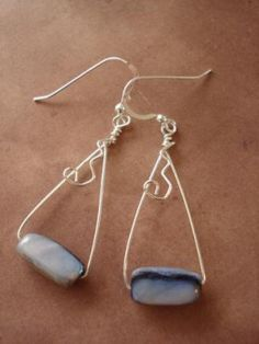 50 photos of earrings made with side drilled beads-good ideas