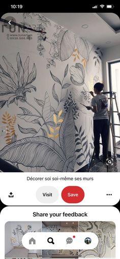 Home Decor Furniture, Diy Home Decor, Flow Painting, Mural Wall Art, Inspirational Wallpapers, Pottery Studio, Mandala Design, Home Decor Inspiration, Design Art