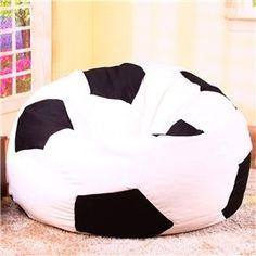 Soft Creative Soccer Ball Design Bean Bag Chair