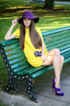 Look of the Day: Yellow and Purple