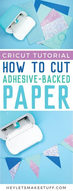 No glue is necessary with Cricut's Adhesive Backed Paper! Here's how to cut Adhesive Backed Paper using your Cricut Joyand it works with Cricut Explore and Cricut Maker too! Cricut Craft Room, Cricut Vinyl, Cricut Tutorials, Cricut Ideas, Small Craft Rooms, Cricut Creations, How To Memorize Things, Things To Sell, Diy Things