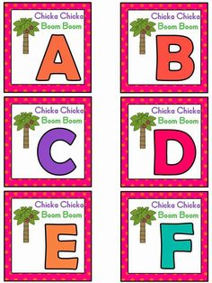Book Bin books Free: Chicka Chicka Boom Boom alphabet activity based on the book by Bill Martin, Jr. and John Archambault. For Educational Purposes Only. Regina Davis aka Queen Chaos at Fairy Tales And Fiction By Preschool Books, Kindergarten Literacy, Early Literacy, Preschool Classroom, Classroom Ideas, Primary Classroom, Future Classroom, Alphabet Activities, Book Activities