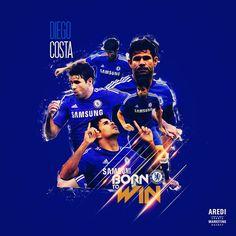 Diego Costa, London, FC Chelsea, sport illustration, poster, graphic, social, design, football, illustration, media, AREDI, #sportaredi