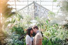 engagement session in a greenhouse - genius