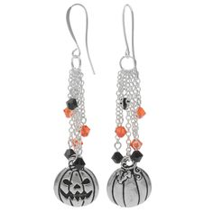 Halloween Earrings - Jack-O-Lantern - Exclusive Beadaholique Jewelry Kit | eBay