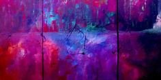 Abstract Painting - Night Falls Upon by Lisa Kaiser