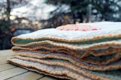 chevron quilt Riley Blake fabric, binding