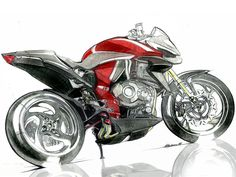Motorcycle Design, Bicycle Design, Cb 1000, Concept Motorcycles, Illustration Art, Illustrations, Car Sketch, Scooters, Concept Cars