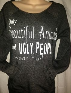 Eco-Friendly Off the Shoulder Sweatshirt  Only by FTLAApparel