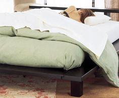 Zen Modern Hardwood Platform Bed Corner Joinery