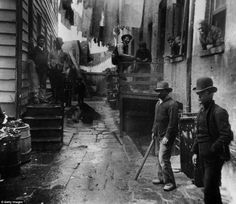 Bandits Roost off Mulberry St., New York City, 1887.  The opening part of this scene from Gangs of New York was based off of this photo.