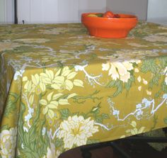 Vintage Table Cloth Temple Garden Zepel Fabrics by BagsnBling, $18.00