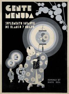 Si moderne. Gente Menuda.  1930s Spanish publication Gente Menuda by Francisco López Rubio (1895–1965)