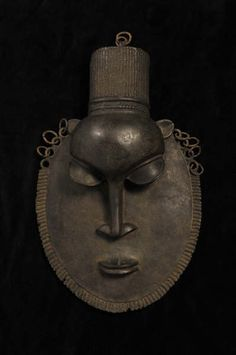 """Ife,Benin. Bronze Mask from Nigeria (14th Century AD)."""