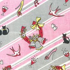 Vintage Linen Tea Towel Good Luck Symbols Wedding Wishes Horseshoe Black Cat Love Hearts Striped Towel by NeatoKeen on Etsy
