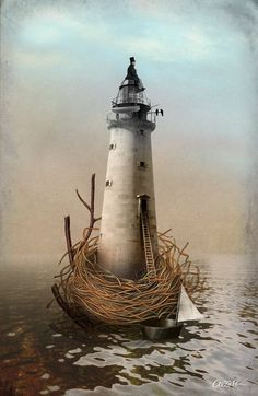 To the lighthouse  by Catrin Welz Stein