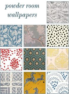 top 10 powder room wallpapers | McGrath II Blog.