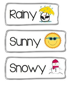 Weather Labels Free Printable