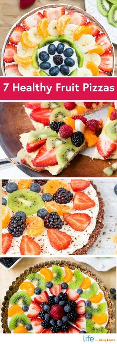 Healthy twists on fruit pizza. Compliments of Daily Burn