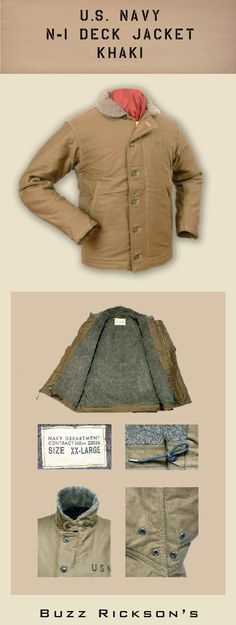 The iconic deck jackets. Interpreted here by Buzz Rickson Deck Jacket Army Look, Gents Fashion, Raw Denim, Men's Coats And Jackets, Military Fashion, Work Wear, Jeans, Menswear, Fashion Outfits