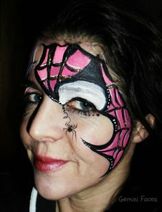 spidergirl face painting
