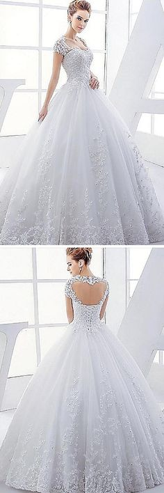 Want to feel like a princess on your wedding day? We've got the dress for you! Lace, sparkles, a corset. This gown has it all. Use code PTL30331 to get a discount when you buy it.