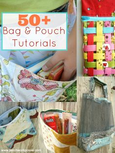 50 bag tutorials | patchwork posse | easy sewing projects and free quilt tutorials