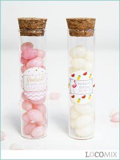 Deze Candy Tubes Communie bedankjes zijn super leuk om weg te geven. De snoepjes hebben vrolijke kleurtjes en je kunt de sticker een eigen tekst geven en zelf een ontwerp kiezen.