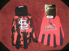 TWO (2) PAIRS OF ST LOUIS CARDINALS, ALL PURPOSE SPORT UTILITY GLOVES #StLouisCardinals