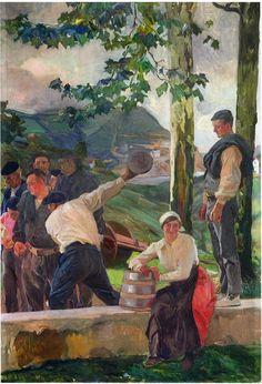 Game of Skittles' Joaquín Sorolla y Bastida, 1914