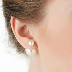 6486729ca95 Charming Big Little Pearl Fashion Earrings Ear Studs