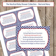 book instead of card-baby shower invite insert