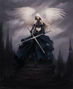Dark Angel Fantasy Art 2 | Dark Angel of Hawyn by Lucastorquato27 on deviantART