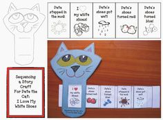Story Sliders:  Classroom Freebies: Pete the Cat Story Slider - use this idea with Jonah and the Whale and other Torah stories.