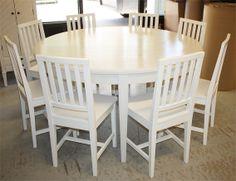 Iso, pyöreä pöytä, round table wooden