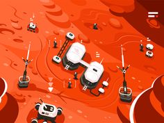 Buy Mars Planet Station Orbit Base by on GraphicRiver. Expedition on alien red planet. Mars Planet, Red Planet, Science, Creative Sketches, The Martian, Pencil Illustration, Business Card Logo, Watercolor And Ink, Cosmic