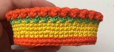 "Crochet Pattern ""Easter basket"" Material: yarn scraps Crochet hook 3mm or 2mm sewing needles Abbreviations: st-stitch sc-single crochet hdc- half double crochet dc- double crochet sl st- slip stitch ch-chain Round 1 Chai"