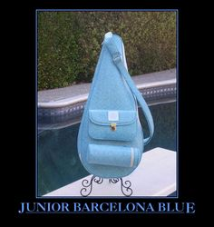 www.CourtCoutureTennis.com Tennis Bags, Sling Backpack, Backpacks, Couture, Blue, Fashion, Moda, Fashion Styles, Backpack