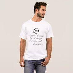 Oscar Wildecat T-Shirt - cat cats kitten kitty pet love pussy