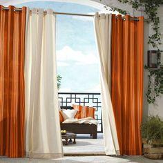 """$49.99  Gazebo Striped Indoor/Outdoor Grommet Top Window Panel - Orange (50x84"""") TARGET"""