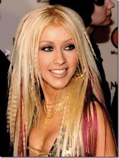 Christina Aguilera...love what she's got going on with her hair.