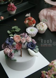 soy flower candle expert instructor class  insta:ruah_cake